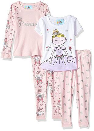 Хлопковая пижама костюм burnz kids на девочку 12 месяцев 1 год