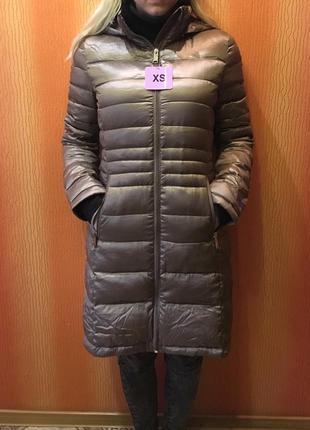 Пальто куртка пуховик тонкое легкое