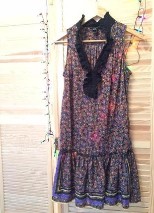 Платье цветочный принт mango