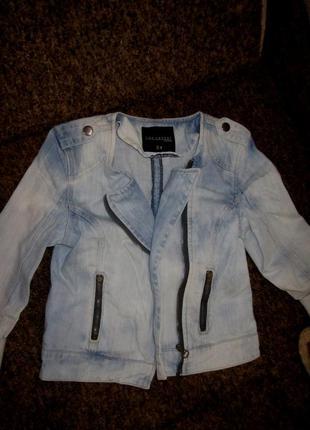 Классная джинсовка-косуха top secret