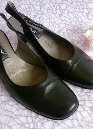 Туфли чёрные gabor кожа 🌸