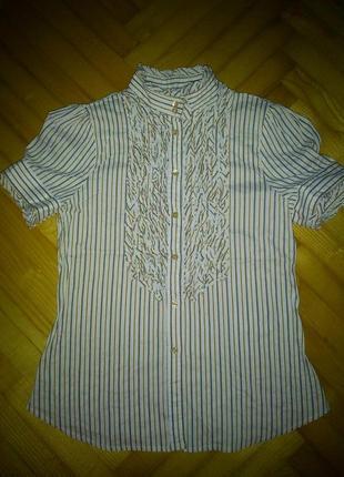 Блузка рубашка от zara! p.-l