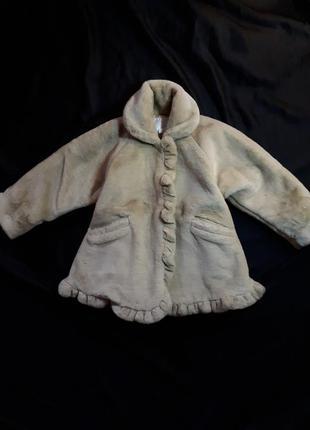 Шуба monnalisa baby италия 6 лет
