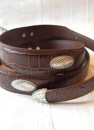 Pga tour кожаный мужской ремень 101.5-111.5 см