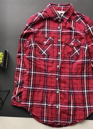 Крутая красная клетчатая рубашка / рубашка в клетку