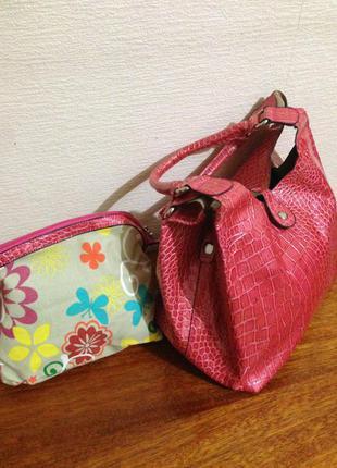 Яркая сумка шоппер с органайзером