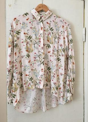 Рубашка в цветочный принт zara
