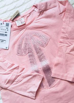 Реглан, кофта с рукавом для девочки zara, размер 2-3, 98