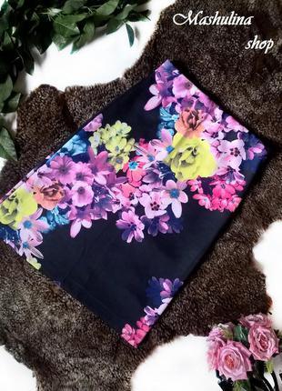 Красивейшая юбочка в цветочный принт made in uk