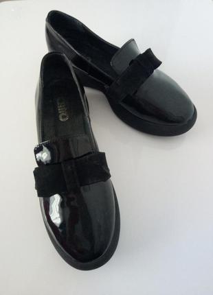 Туфлі-комфорт натур.шкіра