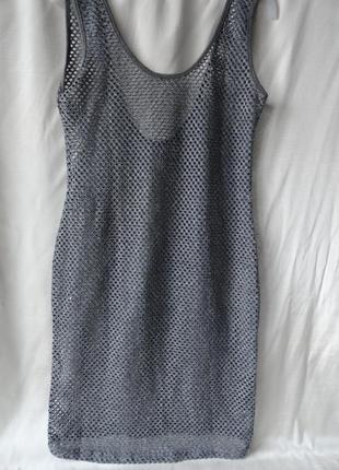 Пляжное платье сетка