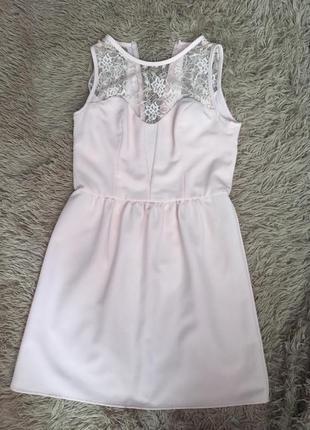 Короткое розовое платье new look