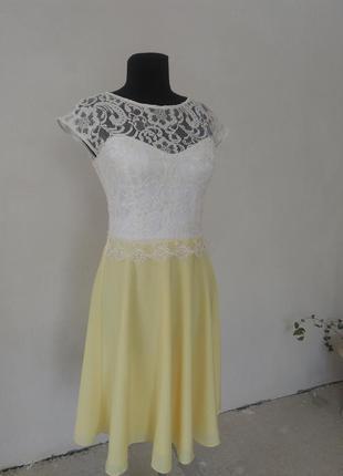 Плаття нарядне з гіпюром