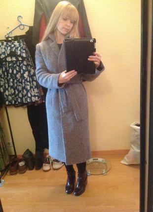Пальто из итальянской шерсти с мохером