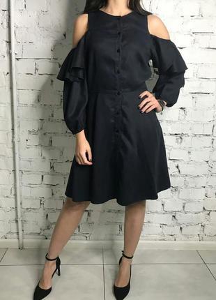 Стильне платтячко темно-синього кольору zara