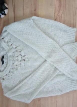 Белый нежный свитер от dorothy perkins