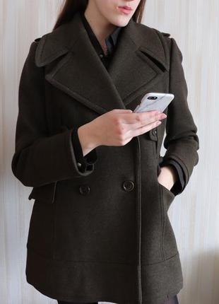 Шерстяное  пальто zara woman