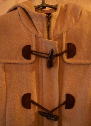 Классное драповое полупальто с капюшоном ostin2 фото