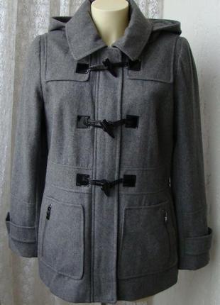 Пальто женское модное стильное с капюшоном демисезонное шерсть бренд apt.9 р.46 №5475