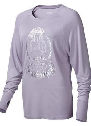 Нежный лонгслив футболка для йоги, спорта и отдыха, crivit германия