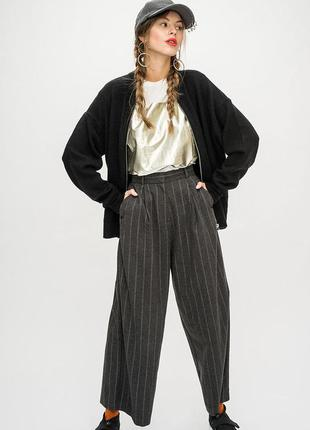 Xs-s плотные качественные кюлоты широкие брюки с высокой посадкой