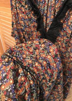 Легкое платье цветочный принт