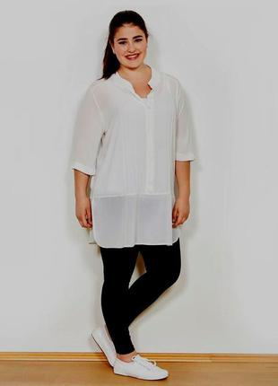 Блуза-туника вискоза белая