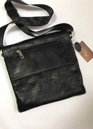 Большая мужская сумка для документов из качественной натуральной итальянской кожи