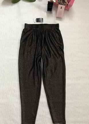 Next трендовые блестящие штаны с  люрексом