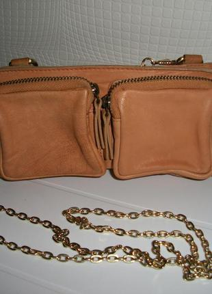 River island кожаная сумка- кошелёк.