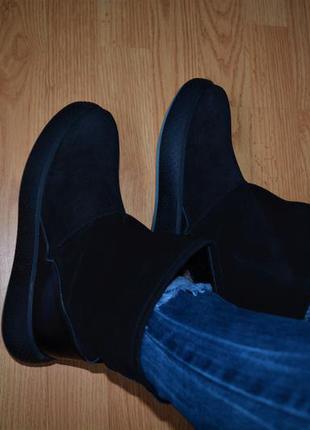Сапоги валенки угги 39 40 зимние тёплые кожаные замшевые шерстяные новые качественные