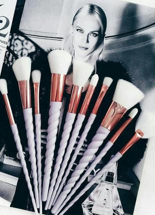 Кисти для макияжа набор для макияжа 10 шт. new unicorn collection