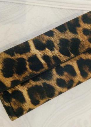 Шикарный кошелек бумажник parfois в леопардовой расцветке!! новый!