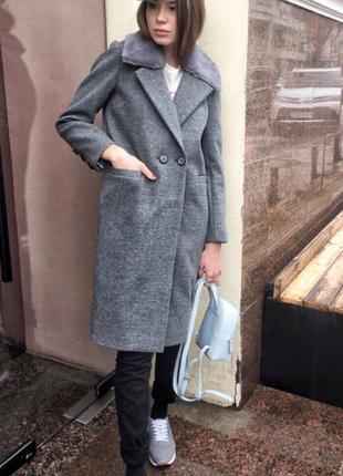 Пальто серое кашемир, весна ( смотрите все вещи в моей шафе)