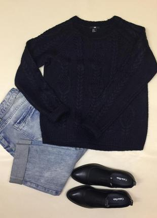 Теплый стильный свитер h&m