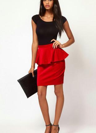 Красная юбка asos