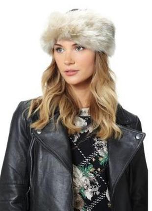 Теплая меховая повязка, шапка, головной убор на голову