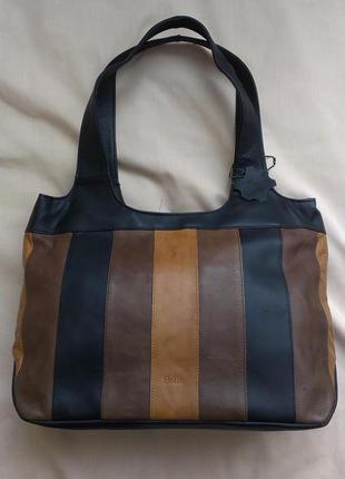 Кожаная сумка шоппер bolla