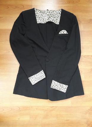 Пиджак бойфренд с манжетами