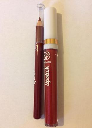 Помада блеск+карандаш для губ