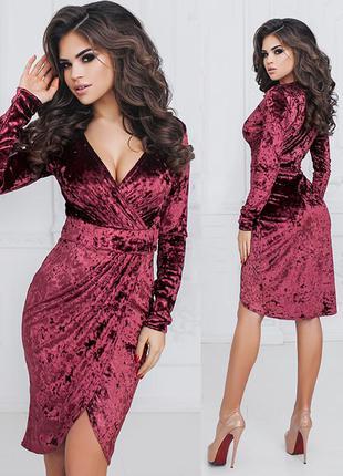 Изящное велюровое платье (есть все размеры и расцветки)