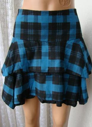 Юбка женская модная теплая демисезонная мини бренд next р.48 №5512