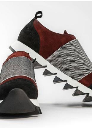 Трендовые кроссовки из натуральной замши!размеры с 36 по 40!