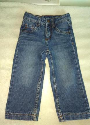 Классные джинсы на трикотажной подкладке impidimpi 86р.