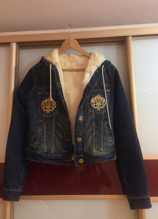 Джинсовая куртка на натуральном меху