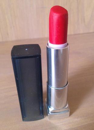 Красная матовая помада 💄 maybelline 965 siren in scarlet