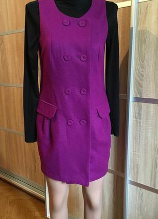Красивое шерстяное платье/пальто от forever21, шерсть/wool!!!