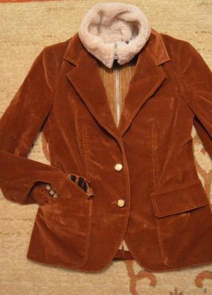 Dolce gabbana жакет,пиджак с меховым воротником из овчины оригинал
