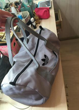 Сумка спортивная серая торба мешок бочонок боченок вместительная большая