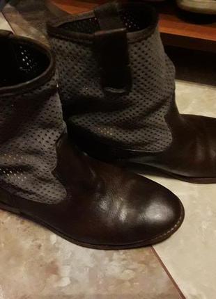 Ботинки кожа+замш